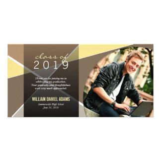 Modern Stylish Criss Cross Graduation Thank You Photo Cards