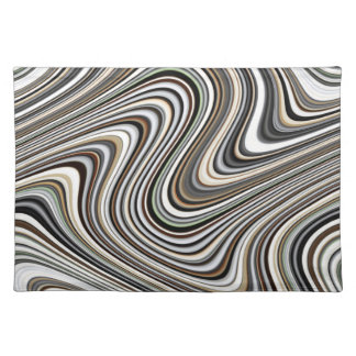 Modern Stylish Curvy Abstract Pattern Placemat