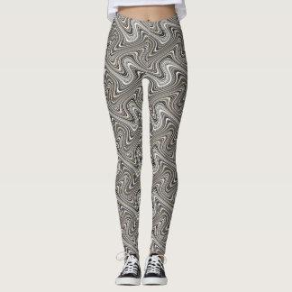 Modern Stylish Curvy Pattern Leggings