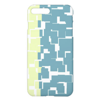 Modern Stylish Green Yellow Teal Blue Pattern iPhone 8 Plus/7 Plus Case