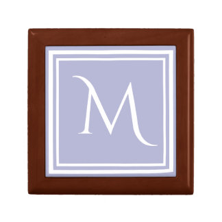 Modern Stylish Lavender Custom Monogram Small Square Gift Box