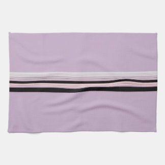 Modern Stylish Lavender Striped Touch Hand Towels