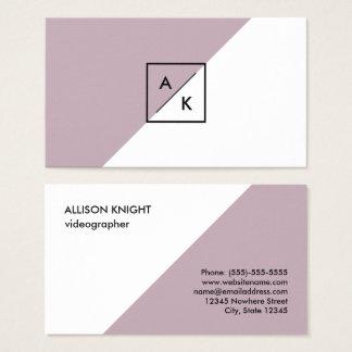 Modern Stylish Monogram Business Card No.1