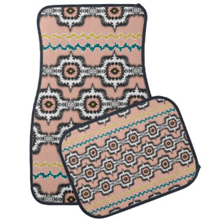 Modern Stylish Moroccan Style Repeat Patterned Car Mat