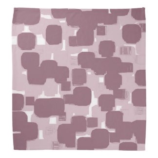 Modern Stylish Pink Abstract Pattern Bandana