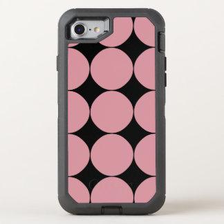 Modern Stylish Pink Polka Dot OtterBox Defender iPhone 8/7 Case