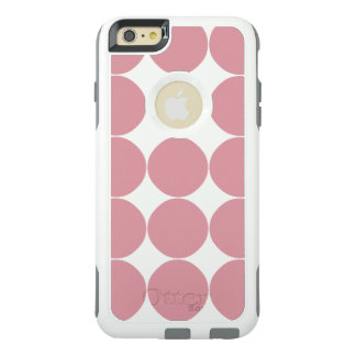 Modern Stylish Pink Polka Dot OtterBox iPhone 6/6s Plus Case