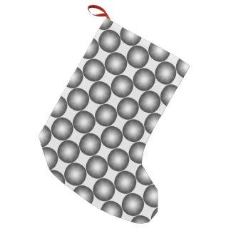 Modern Stylish Polka Dot Pattern Small Christmas Stocking