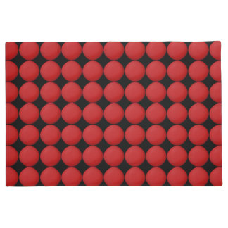 Modern Stylish Red Polka Dot Doormat