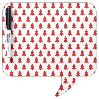 Modern Stylish Red White Tree Pattern Dry-Erase Whiteboards