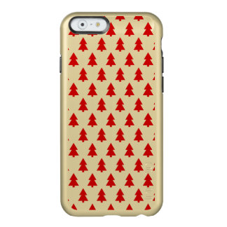 Modern Stylish Red White Tree Pattern Incipio Feather® Shine iPhone 6 Case