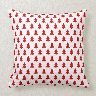 Modern Stylish Tree Pattern Red Pillow