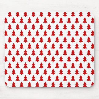 Modern Stylish Tree Pattern Red Mousepad