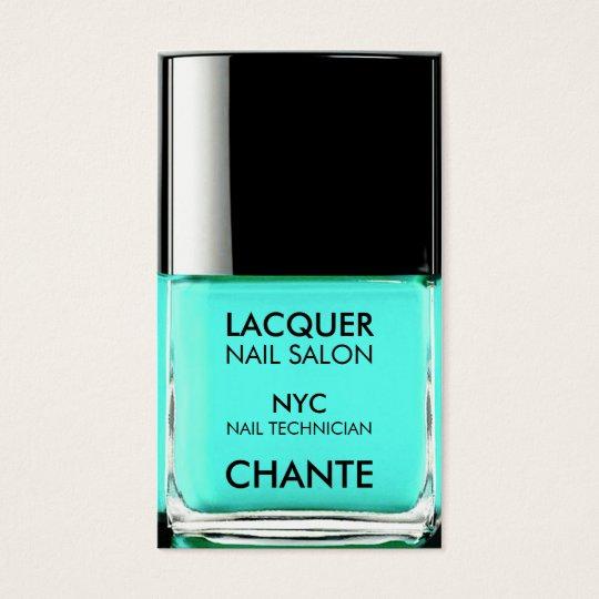 Modern stylish trendy turquoise nail polish chic business