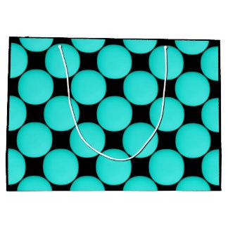 Modern Stylish Turquoise Pattern Large Gift Bag