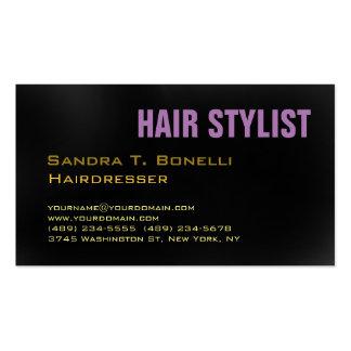 Modern Stylish Unique Hairdresser Grey Background Pack Of Standard Business Cards