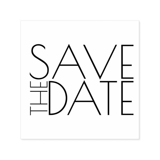 Modern Stylish Wedding Save the Date Self-inking Stamp