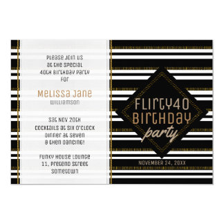 Modern Stylish Woman 40th Birthday Party Invites