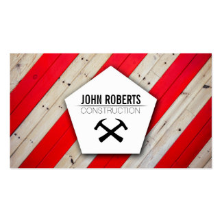 Modern stylish wood wall construction architecture pack of standard business cards