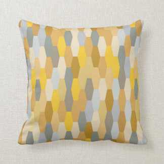 Modern Summer Geometric Pattern Yellow Grey Cushion