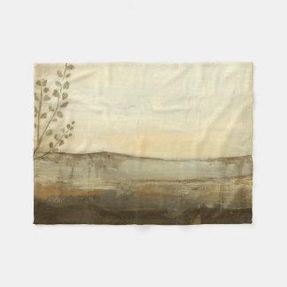 Modern Sunset Landscape Oil Painting Fleece Blanket