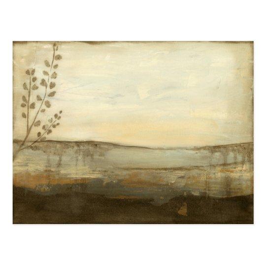 Modern Sunset Landscape Oil Painting Postcard