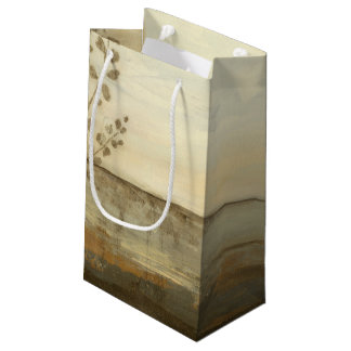 Modern Sunset Landscape Oil Painting Small Gift Bag