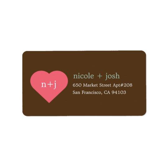 Modern Sweetheart Address Labels
