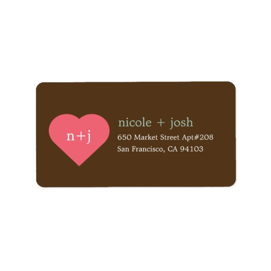Modern Sweetheart Address Labels
