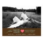 Modern Sweetheart Save The Date Postcard