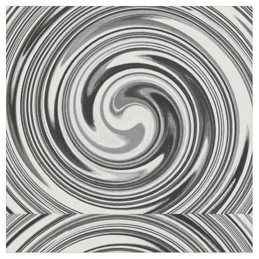 Modern Swirl Abstract Art #7 Fabric