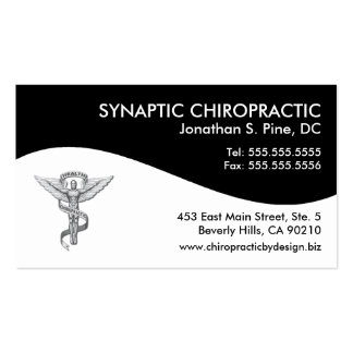 Modern Swirl Chiropractic Appointment Cards Double-Sided Standard Business Cards (Pack Of 100)