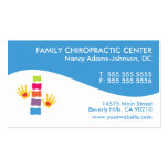 Modern Swirl Colourful Chiropractic Business Cards