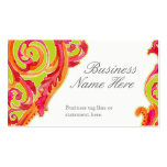 Modern Swirl Flourish Heart Tangerine Hot Pink Pack Of Standard Business Cards