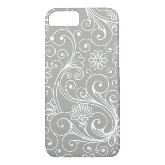 Modern Swirl pattern , you choose background color iPhone 8/7 Case