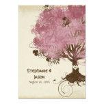 Modern Swirl Scroll Tree of Life Spring Summer Art 13 Cm X 18 Cm Invitation Card