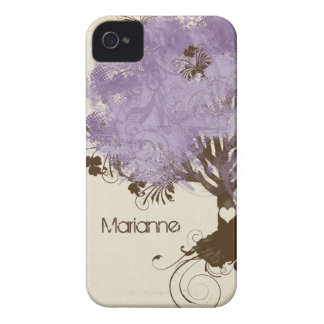Modern Swirl Scroll Tree of Life Spring Summer iPhone 4 Case
