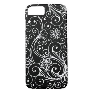 Modern Swirls Design, you choose background color iPhone 8/7 Case
