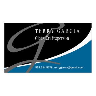 Modern Swoosh Monogram G Business Card Template