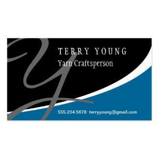 Modern Swoosh Monogram Y Pack Of Standard Business Cards