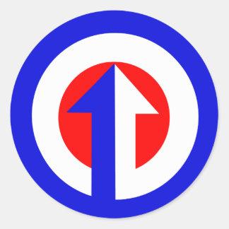 Modern Target & Arrow Classic Round Sticker