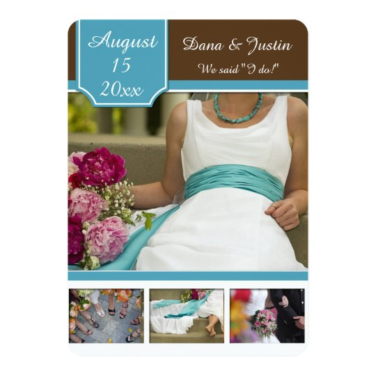 Modern Teal and Brown Photo Collage Post Wedding