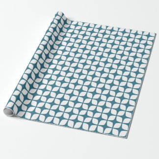 Modern Teal Blue Geometric Wrapping Paper