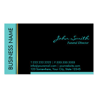 Modern Teal Border Funeral Business Card