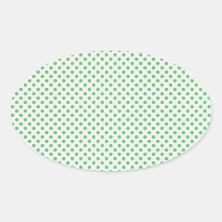 Modern Teal Dot Pattern Stickers