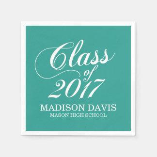 Modern Teal | Graduation Napkins Paper Napkins