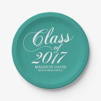 Modern Teal | Graduation Paper Plate