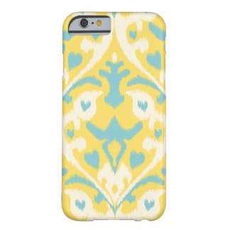Modern teal yellow girly ikat tribal pattern barely there iPhone 6 case