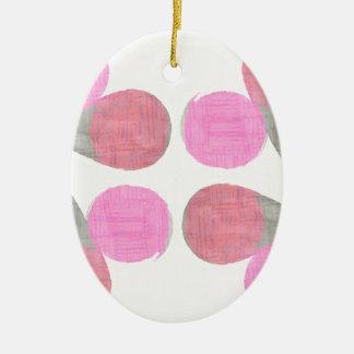 Modern Teardrop Pattern Christmas Ornament