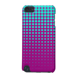 Modern techno shrinking polka dots opal  fuchsia iPod touch (5th generation) cases